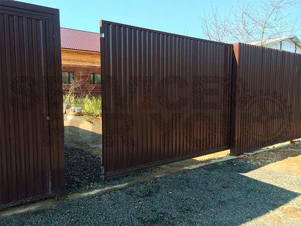 Откатные складные ворота в Селятино
